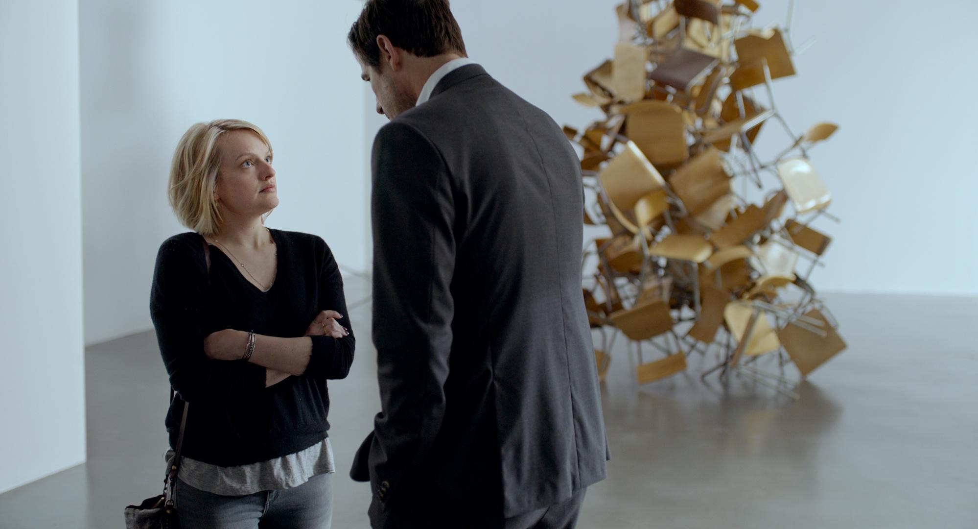 Golden Globe-vinner Elisabeth Moss (kjent fra bl.a. Mad Men og Top of the Lake, spiller en av hovedrollene i Ruben Östlunds THE SQUARE.
